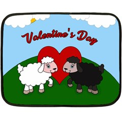 Valentines Day   Sheep  Fleece Blanket (mini)