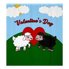 Valentines Day   Sheep  Shower Curtain 66  X 72  (large)