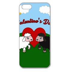 Valentines Day   Sheep  Apple Seamless Iphone 5 Case (clear)