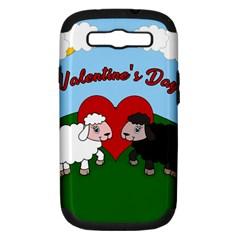 Valentines Day   Sheep  Samsung Galaxy S Iii Hardshell Case (pc+silicone)