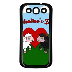 Valentines Day   Sheep  Samsung Galaxy S3 Back Case (black)