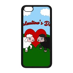 Valentines Day   Sheep  Apple Iphone 5c Seamless Case (black)