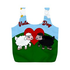 Valentines Day   Sheep  Full Print Recycle Bags (m)