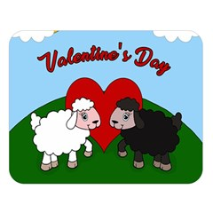 Valentines Day   Sheep  Double Sided Flano Blanket (large)