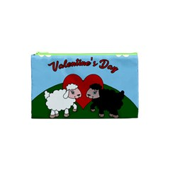 Valentines Day   Sheep  Cosmetic Bag (xs)