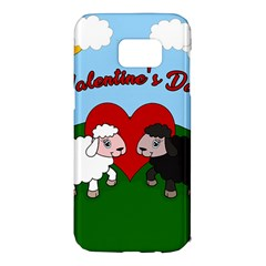 Valentines Day   Sheep  Samsung Galaxy S7 Edge Hardshell Case