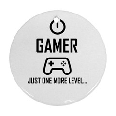 Gamer Round Ornament (two Sides)