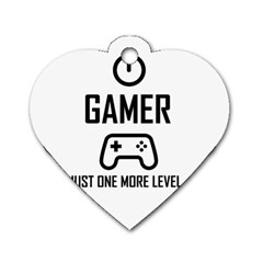 Gamer Dog Tag Heart (two Sides)