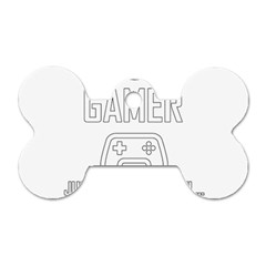 Gamer Dog Tag Bone (two Sides)