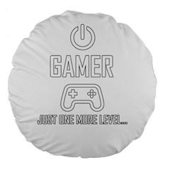 Gamer Large 18  Premium Flano Round Cushions