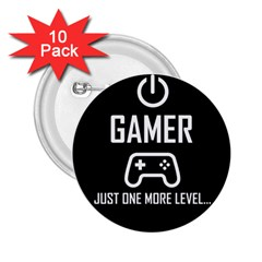 Gamer 2 25  Buttons (10 Pack)