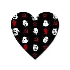 Communist Leaders Heart Magnet