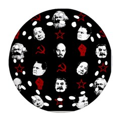 Communist Leaders Round Filigree Ornament (two Sides)