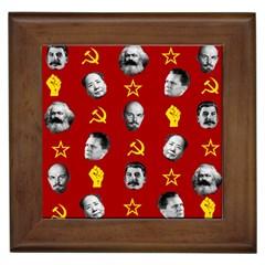 Communist Leaders Framed Tiles