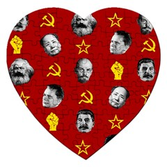 Communist Leaders Jigsaw Puzzle (heart)