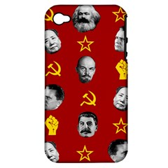 Communist Leaders Apple Iphone 4/4s Hardshell Case (pc+silicone)