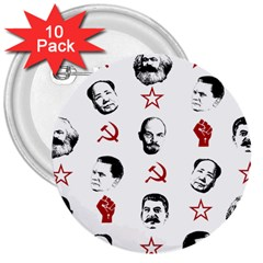 Communist Leaders 3  Buttons (10 Pack)
