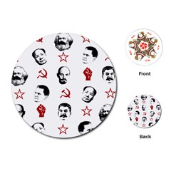 Communist Leaders Playing Cards (round)