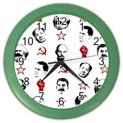 Communist Leaders Color Wall Clocks