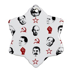 Communist Leaders Snowflake Ornament (two Sides)