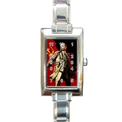 Lenin  Rectangle Italian Charm Watch