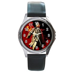 Lenin  Round Metal Watch