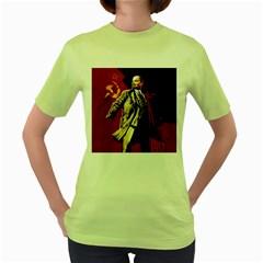 Lenin  Women s Green T Shirt