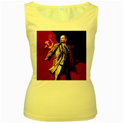 Lenin  Women s Yellow Tank Top