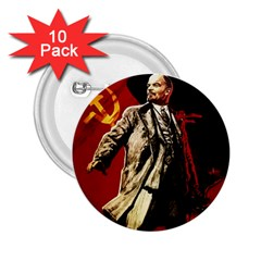 Lenin  2 25  Buttons (10 Pack)