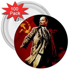 Lenin  3  Buttons (100 Pack)
