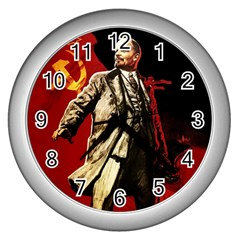 Lenin  Wall Clocks (silver)