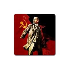 Lenin  Square Magnet