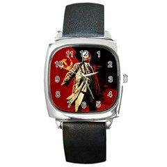 Lenin  Square Metal Watch