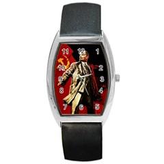 Lenin  Barrel Style Metal Watch