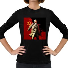 Lenin  Women s Long Sleeve Dark T Shirts