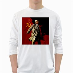 Lenin  White Long Sleeve T Shirts