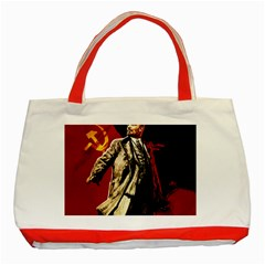Lenin  Classic Tote Bag (red)