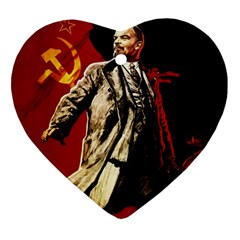 Lenin  Heart Ornament (two Sides)