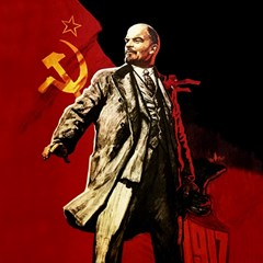 Lenin  Canvas 12  X 12