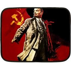 Lenin  Double Sided Fleece Blanket (mini)