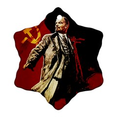 Lenin  Snowflake Ornament (two Sides)