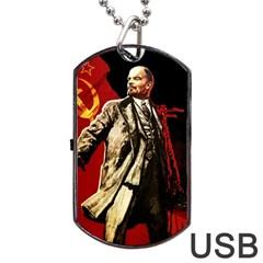 Lenin  Dog Tag Usb Flash (one Side)