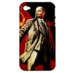 Lenin  Apple Iphone 4/4s Hardshell Case (pc+silicone)