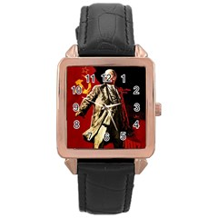 Lenin  Rose Gold Leather Watch