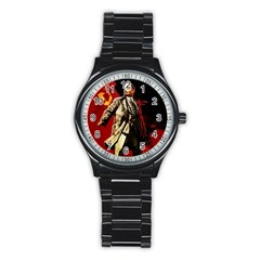 Lenin  Stainless Steel Round Watch