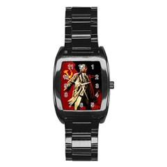 Lenin  Stainless Steel Barrel Watch