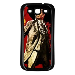 Lenin  Samsung Galaxy S3 Back Case (black)
