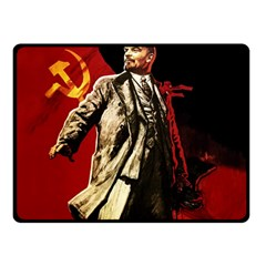 Lenin  Double Sided Fleece Blanket (small)