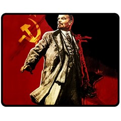 Lenin  Double Sided Fleece Blanket (medium)