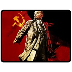 Lenin  Double Sided Fleece Blanket (large)